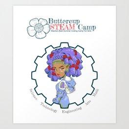 ButtercupSTEAM Locks Art Print
