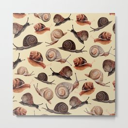 A Slew Of Snails Metal Print