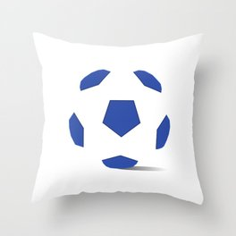 Football image in dazzling blue and white space Throw Pillow