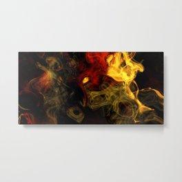 Abstract bright smoke Metal Print