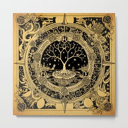 Alchemical Transmutation Mandala - (honey.moon.tree album art) Metal Print