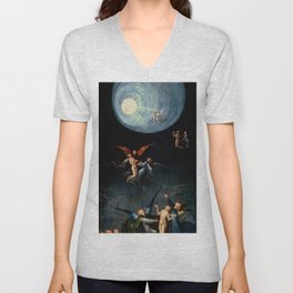 """Hieronymus Bosch """"Visions from the Hereafter - Ascend of the Blessed"""" Unisex V-Neck"""