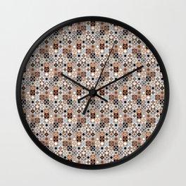 Kalahari Beach Diamond Check Wall Clock