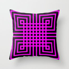 Geometric pattern #031 - pink  Throw Pillow