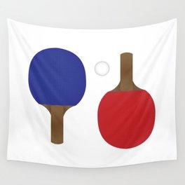 Ping Pong Rackets Wall Tapestry
