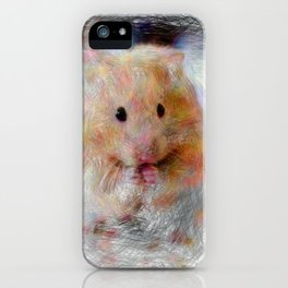 Artistic Animal Hamster iPhone Case
