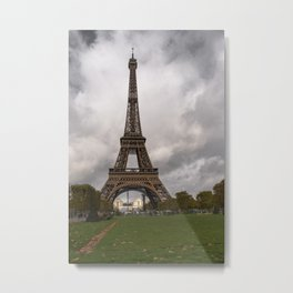 Paris romantic evenings when Eiffel takes a nap Metal Print