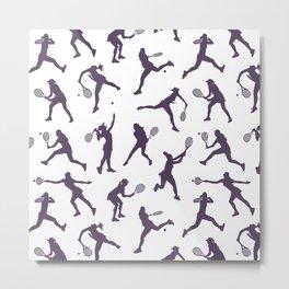 Royal Purple Tennis Players Metal Print