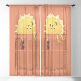 Pocketful of sunshine Sheer Curtain