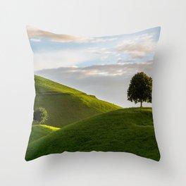 One Tree Hills, Ireland, Springtime, Emerald Isles Photograph Throw Pillow