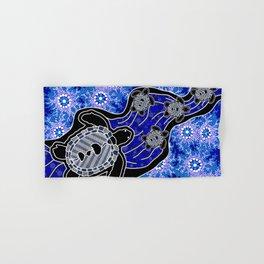 Baby Sea Turtles - Aboriginal Art Hand & Bath Towel