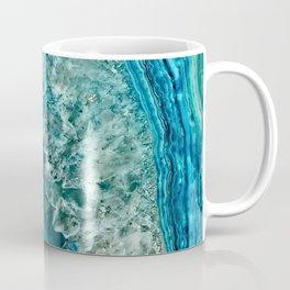 Aqua turquoise agate mineral gem stone Kaffeebecher