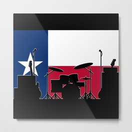 Texas Band On Stage Metal Print