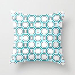 Blue Harmony II Symmetry Throw Pillow