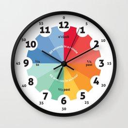 Learning Clock, gifts for teachers, teaching time, classroom clocks, playroom decor, nursery decor Wall Clock
