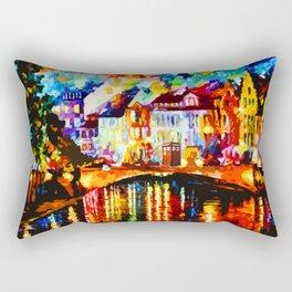 Tardis Art Painting At The Bridge Rectangular Pillow
