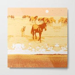DREAMING HORSES Metal Print