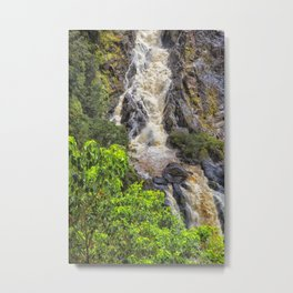 Waterfall in the rainforest Metal Print