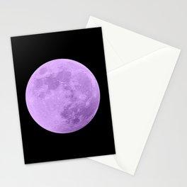 LAVENDER MOON // BLACK SKY Stationery Cards