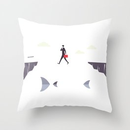 Thin Line Between Success And Failure Throw Pillow