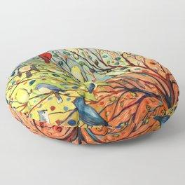 27 Birds Floor Pillow