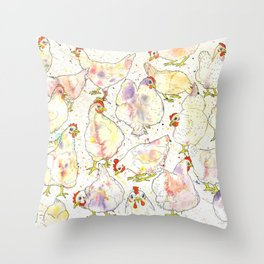 Chicks Throw Pillow