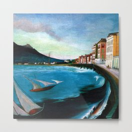 Castellamare di Stabia, Bay of Naples, Italy Waterfront by Tivadar Csontváry Kosztka Metal Print