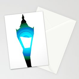 Concentric Lamppost  Stationery Cards