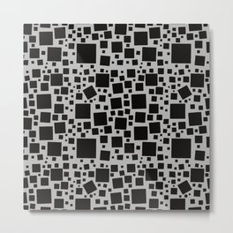 Monochrome Squares Everywhere Seamless Pattern  Metal Print