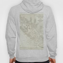 Vintage Map Print - Admiralty Chart No 1917 Vancouver Island & Shores of British Columbia, 1865 Hoody