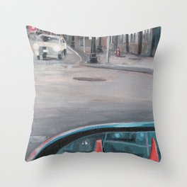 Driver's Side Mirror Throw Pillow