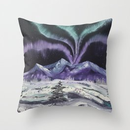 Aurora the Fabulous - Dancing lights Throw Pillow