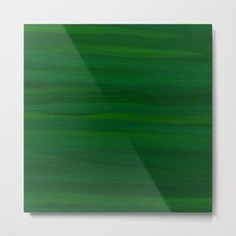 Emerald Green Stripes Abstract Metal Print
