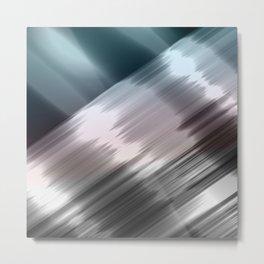 Abstract metallic print Metal Print