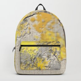 Abstract Yellow and Gray Trees Backpack
