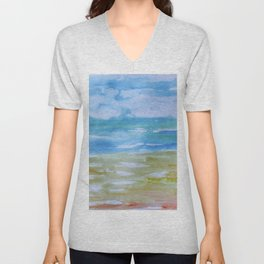 Miami Beach Watercolor #7 Unisex V-Neck