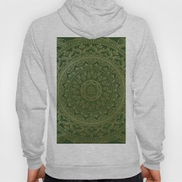 Mandala Royal - Green and Gold Hoody