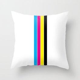 CMYK Stripes Throw Pillow