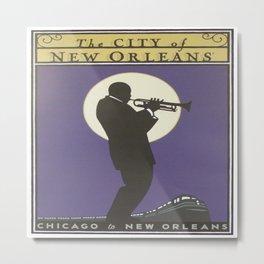 Vintage poster - City of New Orleans Metal Print