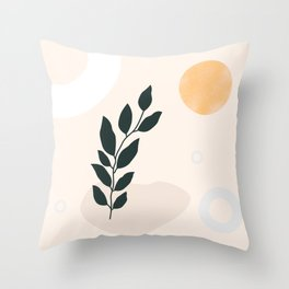 dark plant and soft shapes Throw Pillow