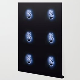 Peace Sign Hand Neon Sign Wallpaper