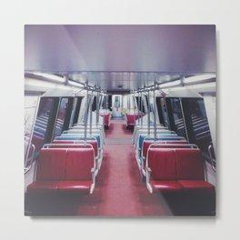 Lonely Metro Metal Print