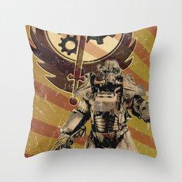 Fallout 4 - Brotherhood of Steel recruitment flyer Throw Pillow