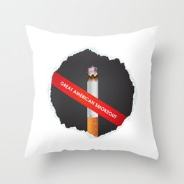 No more cigarette - Great American Smokeout Throw Pillow