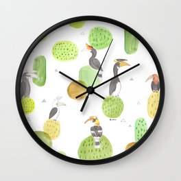 hornbills Wall Clock