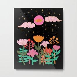 garden under the pink moon Metal Print
