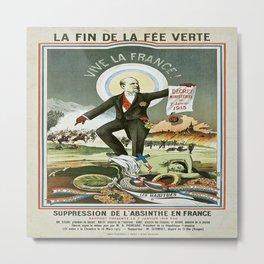 Vintage poster - La Finn de la Fee Verte Metal Print