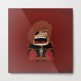 Screaming Captain Harlock Metal Print