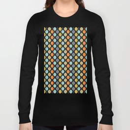Retro Circles Mid Century Modern Background Long Sleeve T-shirt