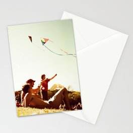 Kiteflying and Relaxing Stationery Cards